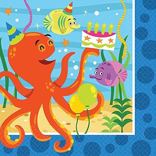 Napkin Octopus (Ocean Buddies Luncheon Napkins (16ct))