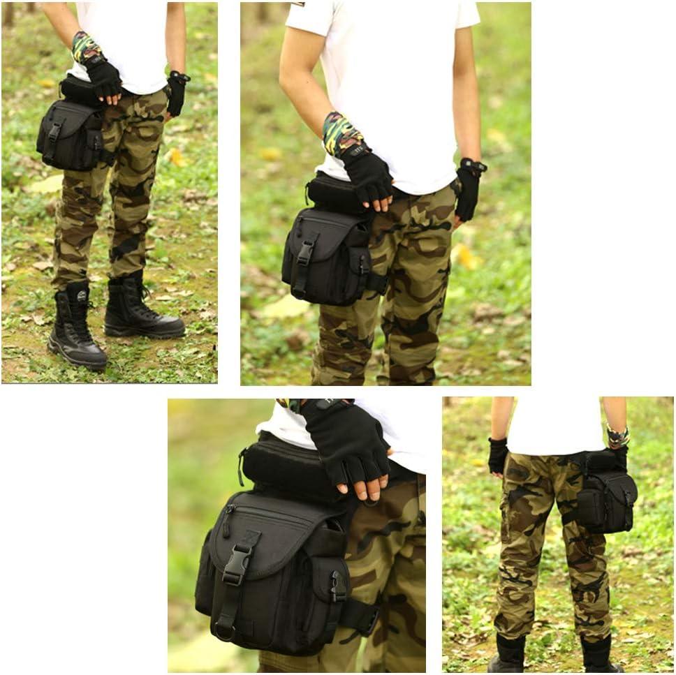 Huntvp Bolsa de Pierna Bolsa T/áctical Militar Impermeable para Correr Senderismo Ciclismo Camping Caza Negro//Verde//Marr/ón//Camuflaje