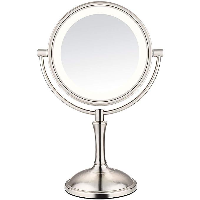 AmnoAmno LED Makeup Mirror-10x Magnifying,7.8