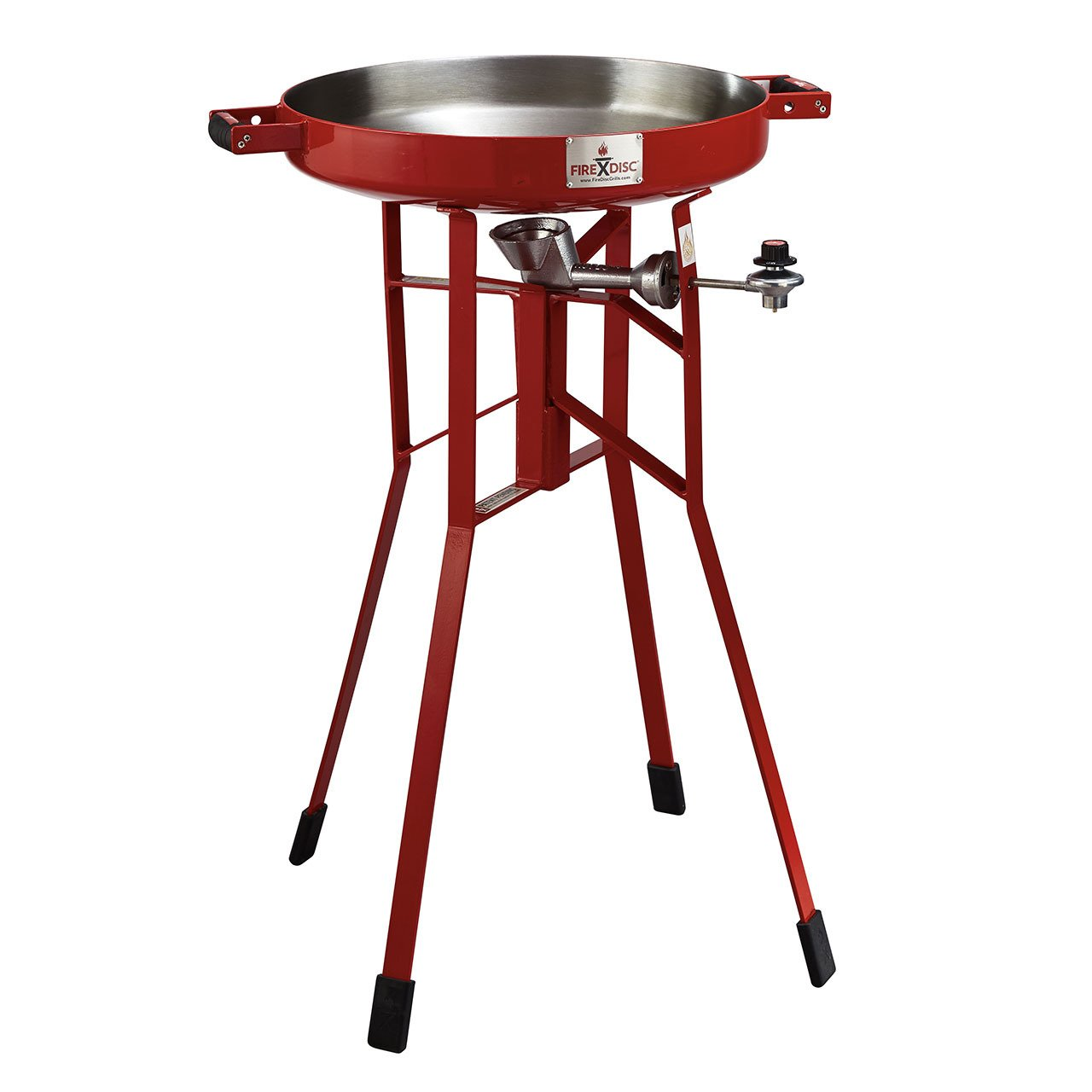 FireDisc - Deep 36'' Backyard Plow Disc Cooker - Fireman Red | Portable Propane Outdoor Camping Grill