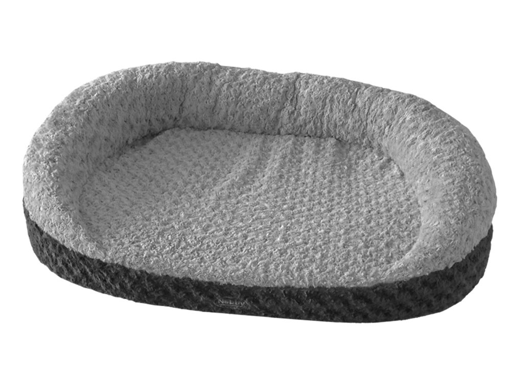 105 x 75 x 25 cm Nobby Seoli Comfort Mat Oval with Edge for Dogs and Cats Dark Grey Light Grey