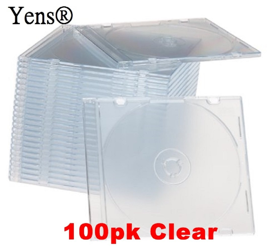 Yens 100clearslimjc CD Jewel Cases