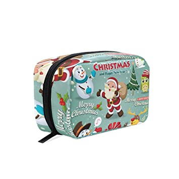 58e24661e0bf Amazon.com : OREZI Christmas Elements Portable Travel Mini Makeup ...