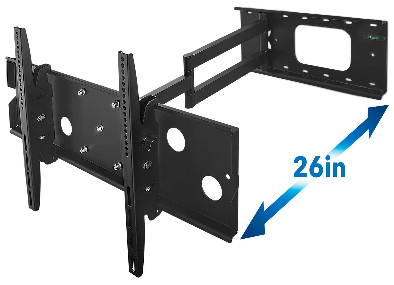 Mount-It! Long Arm TV Wall Mount With 26 Inch Extension, Swing Out Full Motion Design for Corner Installation, Fits 40 50, 55, 60, 65, 70 Inch Flat Screen TVs, 220 Pound Capacity
