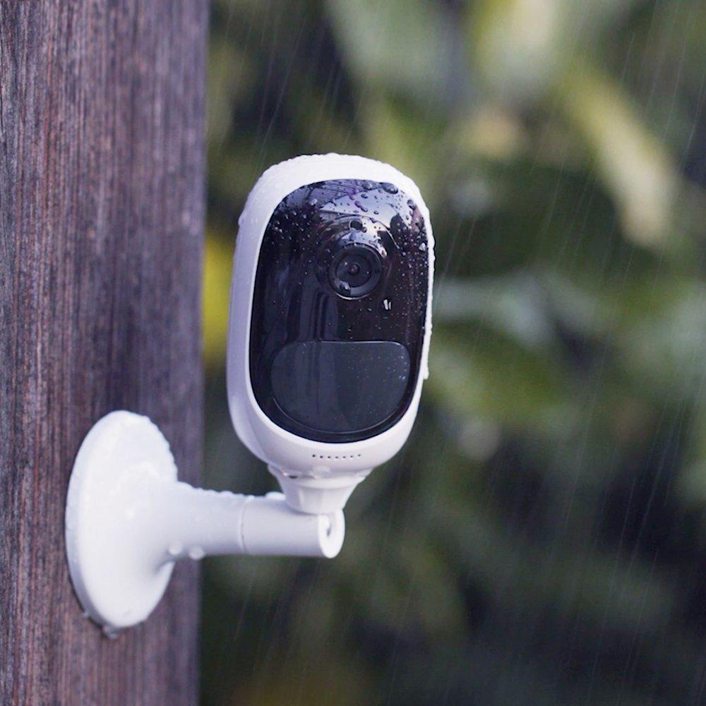 Camara IP WiFi de videovigilancia 100% inalámbrica (con batería recargable) FullHD 1080p, visión nocturna y detección de movimiento PIR, vigilancia para ...