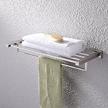 Amazon Com Medium Size Paris Brushed Satin Nickel Towel