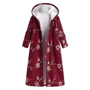 Print Damen Mantel Jacke Parka Vintage Warm Boho Ethnic Y9EIWDH2
