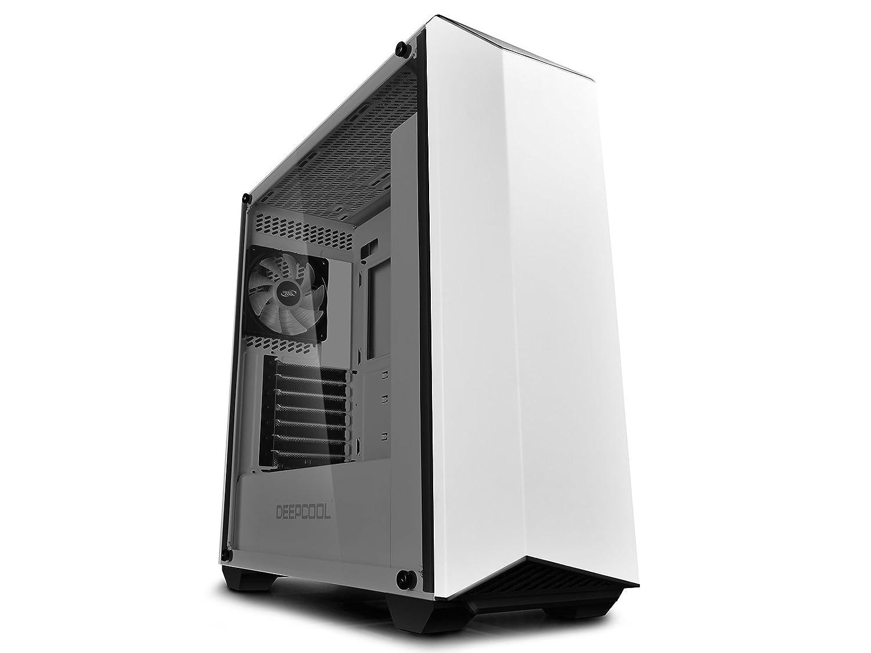 Deepcool Earlkase RGB White Case Atx Computer PC da Gaming 0.7MM SPCC 2*USB3.0/2.0 Ventola RGB 120mm Pannello Laterale in Vetro Temperato