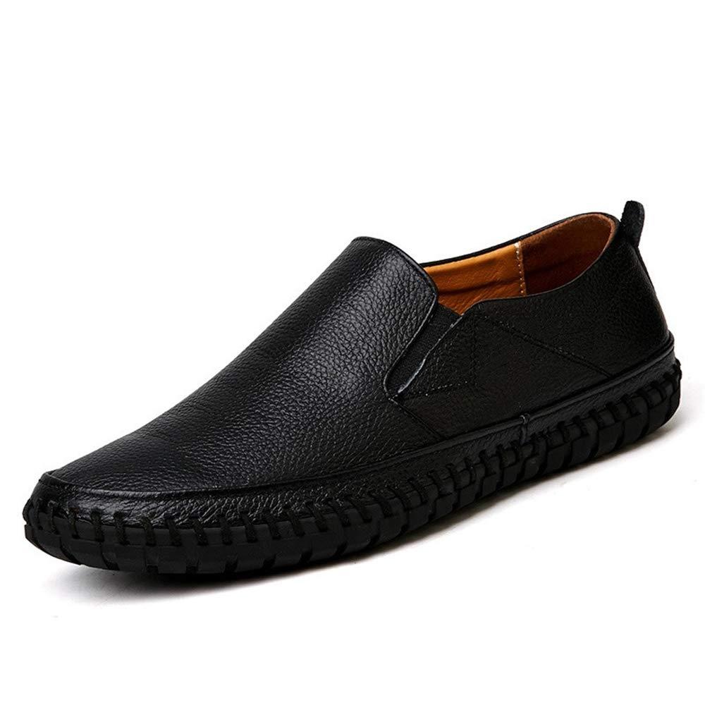 BAIQUAN Large Men's Leather Shoes Black Leather Shoes Leather Casual Shoes Men's Soft Shoes Designer Shoes by BAIQUAN US
