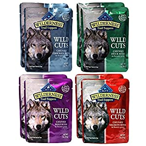 free shipping Blue Buffalo Trail Toppers Wild Cuts Variety Pack - 4 Flavors (8 Pouches) by RFG Distributing
