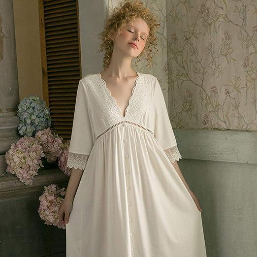 YPDM Bata,Camisones Mujer Estilo Vintage Ropa de Dormir para Mujer ...