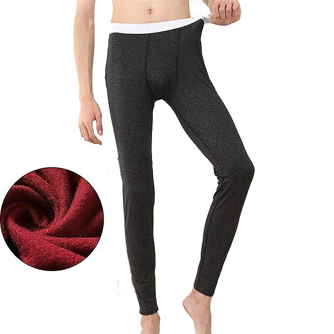 ... de los Pantalones de los Hombres de 1 par de otoño Transparente Ropa Interior térmica e Inferior Invierno frío Extremo (Negro XL): Amazon.es: Hogar