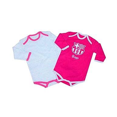 863bffe30a683 Pack 2 Body manga Larga F.C.Barcelona Rosa 12 Meses  Amazon.es  Ropa y  accesorios
