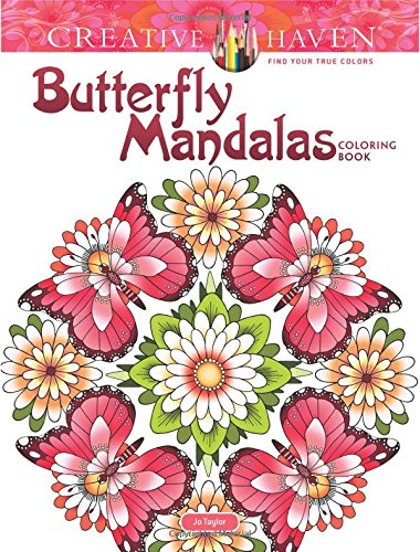 Creative Haven Butterfly Mandalas Coloring Book (Adult Coloring)