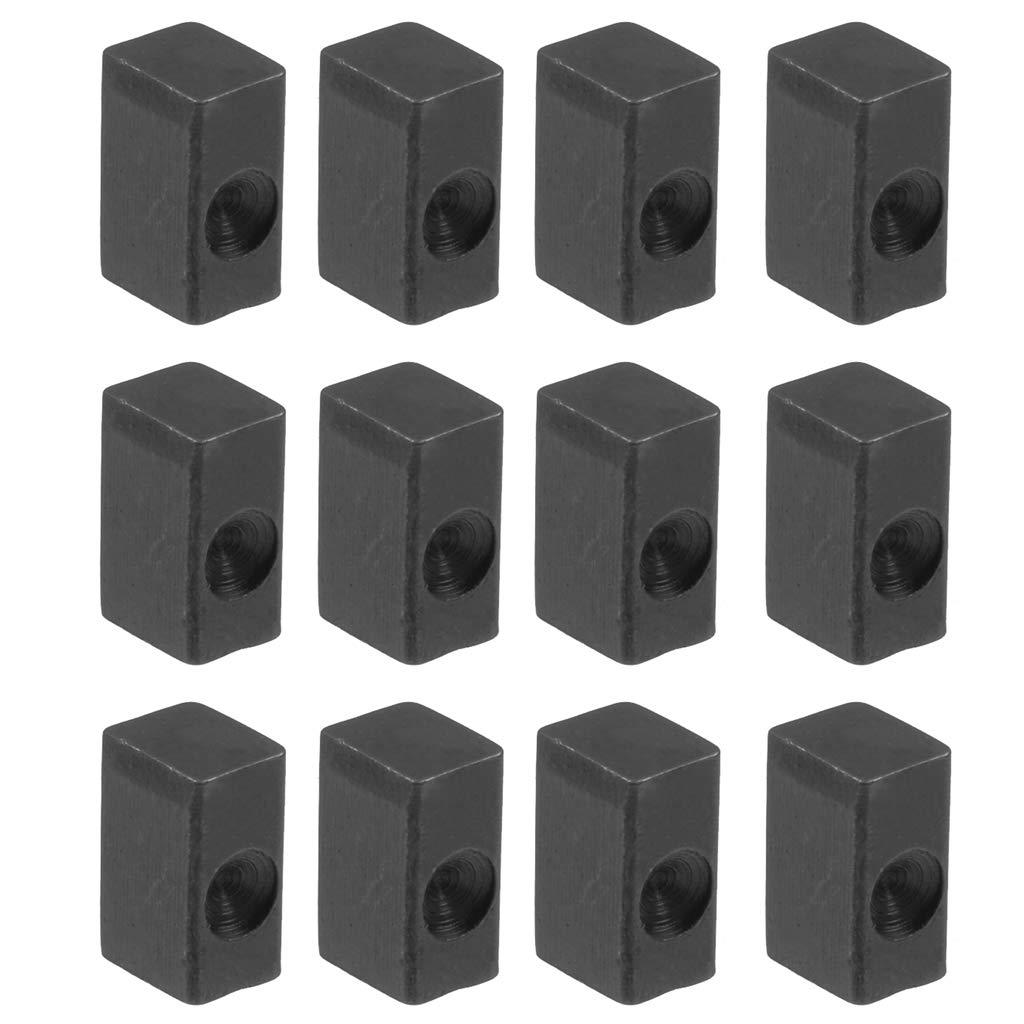 D DOLITY 12 Pedazos Bloque de Hierro de Secuencia de Guitarra El/éctrica Pieza de Repuestos para Bajos Aficionados