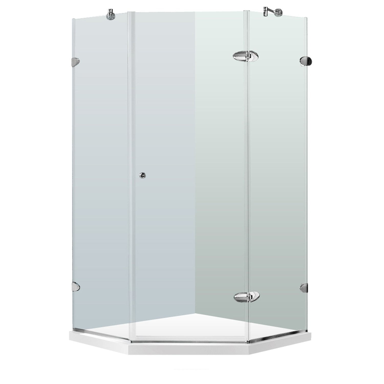 VIGO Verona 40 x 40 in Frameless Neo Angle Shower Enclosure with