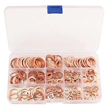 Fasteners & Hooks Fashion Style 280 Pcs M5-m20 Copper Washers Solid Machine Flat Sealing Ring Kit 12 Sizes Copper Washers Set Back To Search Resultshome Improvement