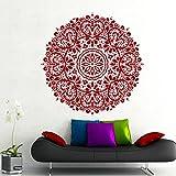 Adhesivos de pared Mandala Modelo indio Yoga OM OM sesión Ventana vinilo de la etiqueta engomada del hogar Decoración Murales Arte Recamara MN319