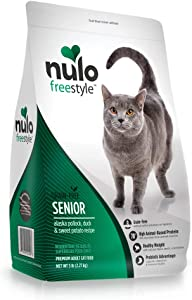 Nulo Senior Dry Cat Food - Grain Free Kibble, All Natural Ingredient Diet for Digestive & Immune Health - Allergy Sensitive Non GMO