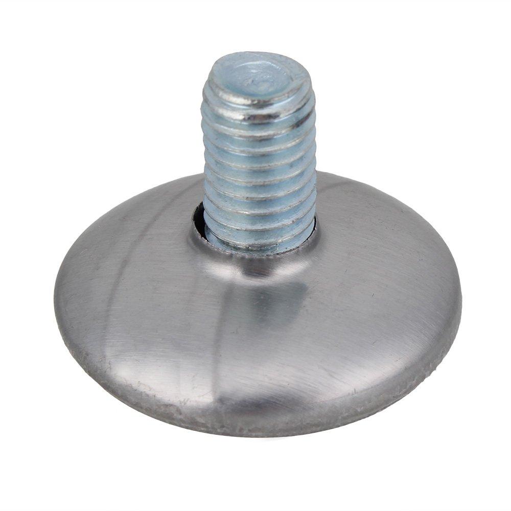 8 mm x 29 mm Filetage Base ronde r/églable et pieds de nivellement de Table-Noir-Lot de 20
