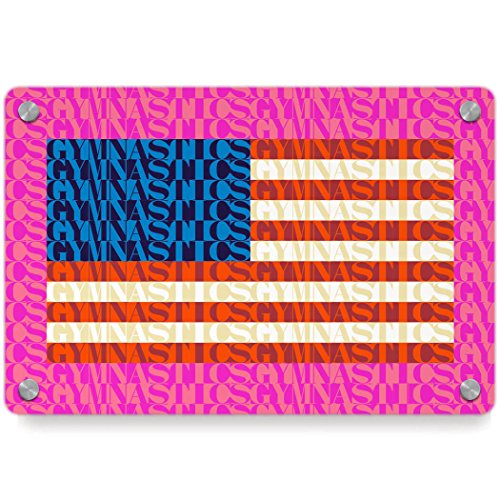 American Flag Mosaic | Gymnastics Metal Wall Art Panel by ChalkTalkSPORTS | Multiple Colors