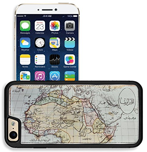Map Reproductions Historical (Liili Apple iPhone 6 iPhone 6S Aluminum Backplate Bumper Snap iphone6/6s Case Image ID 1803 Photo from old reproduction Image ID 23322862 Historical map of Africa in Arabic script Published)
