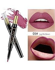 MERICAL QIBEST Doppio-End Lasting Lipliner Impermeabile Lip Liner Pencil Stick Rossetto