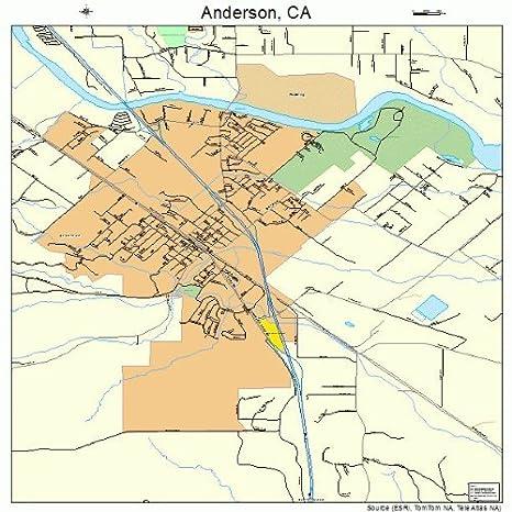 Amazon Com Large Street Road Map Of Anderson California Ca