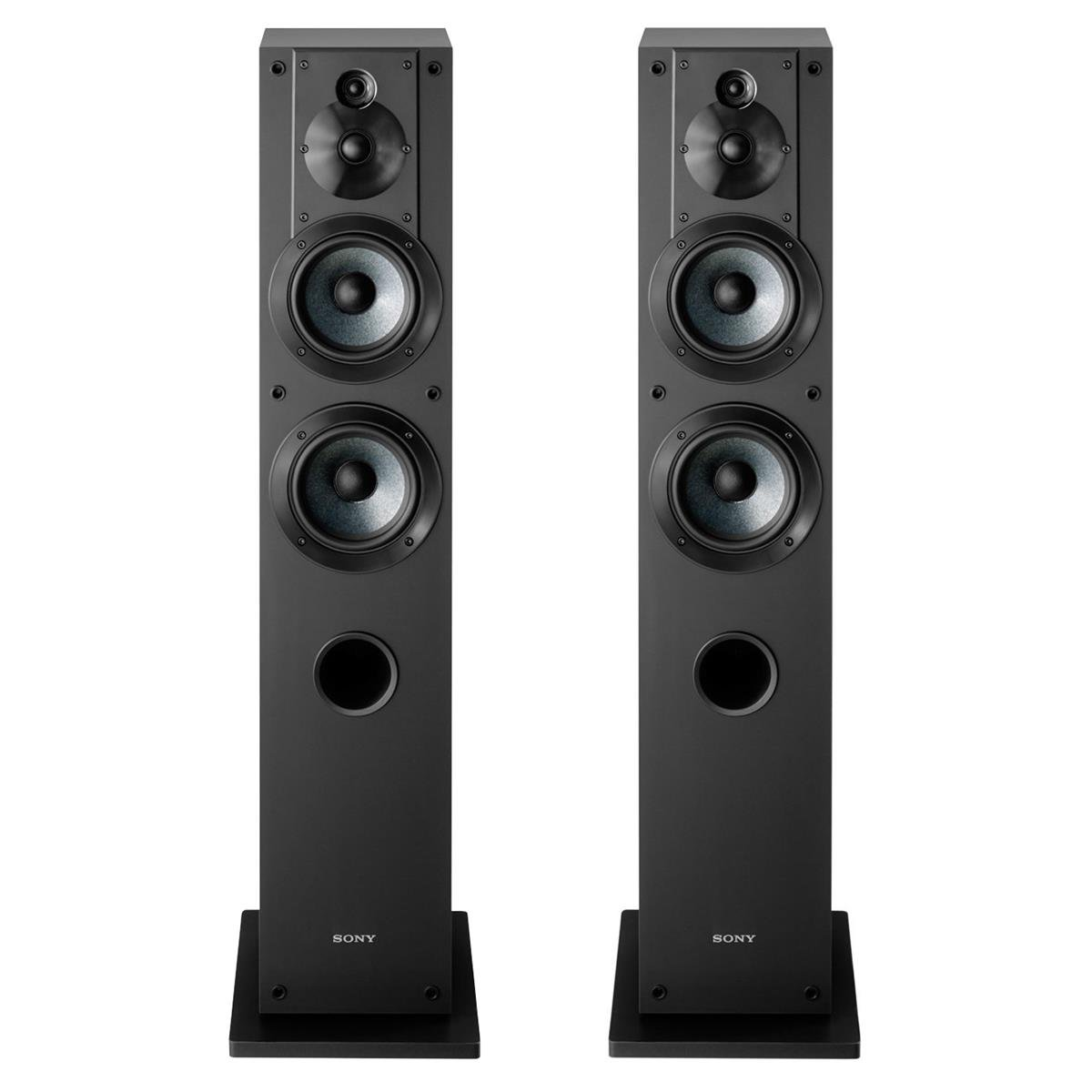 Sony SS-CS3 3-Way 4-Driver Floor-Standing Speaker - Pair (Black) by Sony