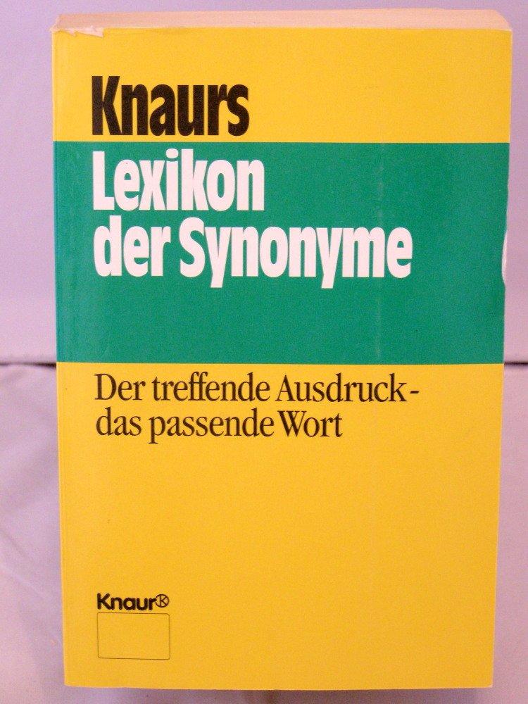 Knaurs Lexikon der Synonyme