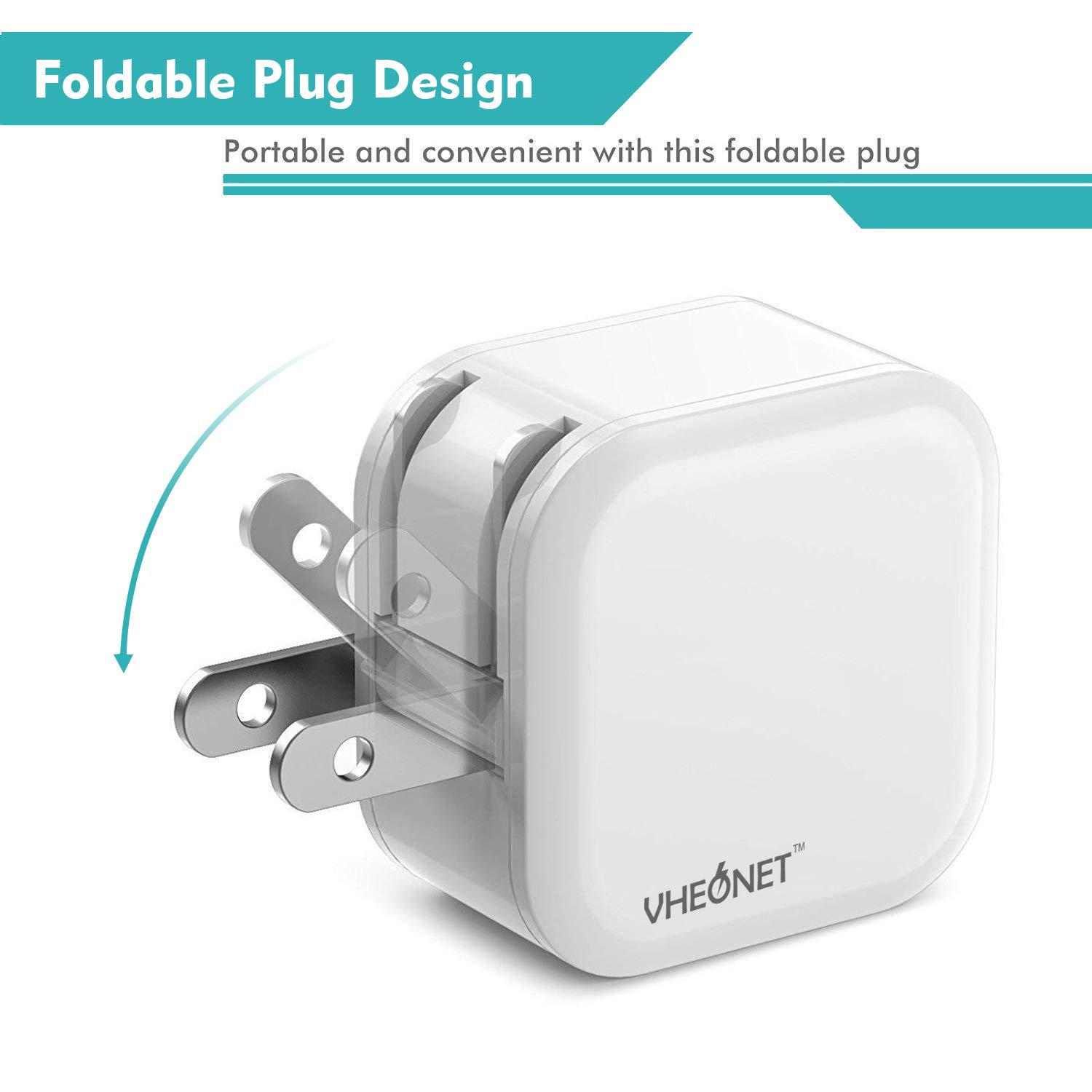 Quick Charge USB Wall Charger, 30W 2-Pack Fast Charger 3.0 + 2.4A Dual Ports Power Adapter with Foldable Plug for Samsung Galaxy, iPhone, iPad, Google Pixel, Tablet and More
