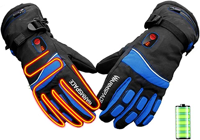 Touchscreen Waterproof And Windproof Gloves Suitable For Outdoor Cycling And Sports 3 Heating Levels With Adjustable Temperature Esteopt Heated Gloves Portable Hand Warm Gloves