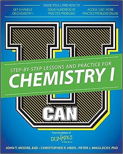 U Can Chemistry I For Dummies John T Moore Chris Hren Peter J