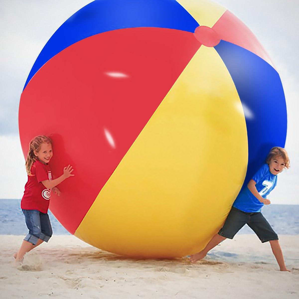 Novelty Place Gigante Pelota de Playa Inflable, Juego de Piscina para Niños y Adultos - Tamaño Jumbo 1,5 Metros (1,5 Metros)