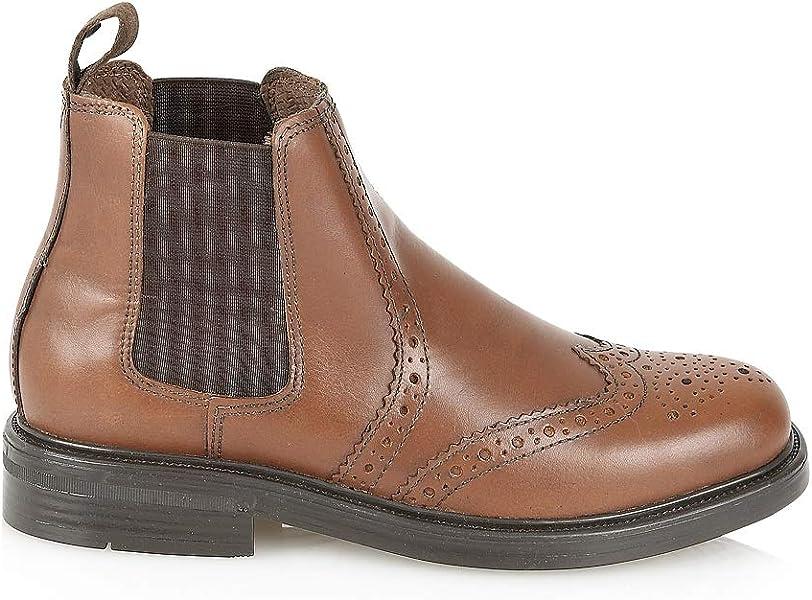 4800ba2ee59 Mens Black and Chestnut brown Appleby Leather brogue dealer boots UK 7-12
