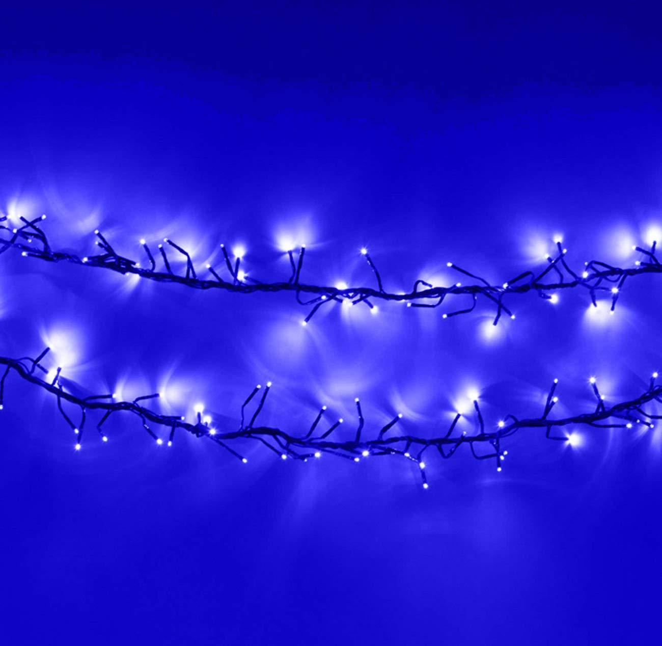 Cluster Lichter 720 LED LED LED Blau Baum Lichter Innen-und außen Weihnachts String-Leuchten 8 Modi mit Timer-Funktion, Netzbetriebene Lichterketten 9M 30ft Lit Länge grünes Kabel B07H5RMXLJ Lichterketten 84fac6