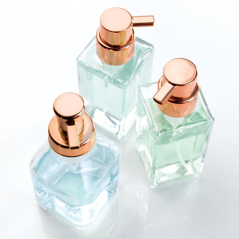 Clear//Bronze 50341 InterDesign Cora Glass Foaming Soap Dispenser Pump for Kitchen or Bathroom Sinks