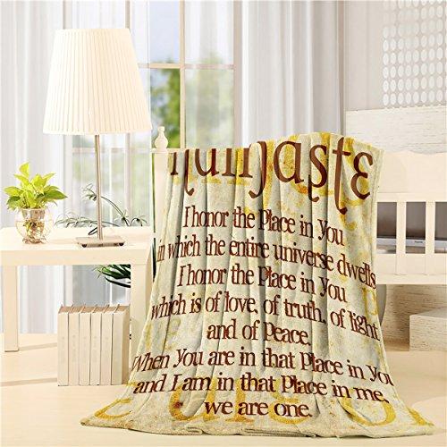 SIGOUYI Lightweight Fleece Blankets Reversible Throw Cozy Plush Microfiber All-Season Blanket for Bed/Couch - Queen 50x80 Inch Namaste Quote Christian Faith by SIGOUYI