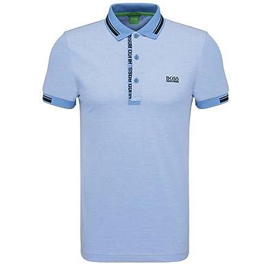 d599de3f4 BOSS Hugo Green Mens Paule 4 Polo, Oxford Pique Regatta Sky Blue Polo  Shirt: Amazon.co.uk: Clothing