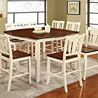 247SHOPATHOME Idf-3326WC-PT-7PC Dining-Room, 7-Piece Set, White and Cherry