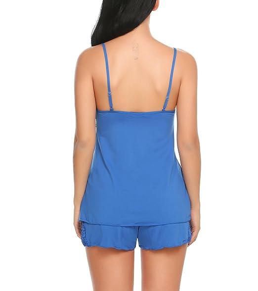 Scallop Mujer Conjunto de Pijama Ropa de Dormir Lencería Algodón Suave Camisa y Panty: Amazon.es: Ropa y accesorios