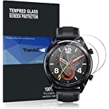 TopACE Huawei Watch GT 強化ガラスフィルム 硬度9H 超薄0.33mm 2.5D 耐衝撃 撥油性 超耐久 耐指紋 飛散防止処理保護フィルム【2枚パック】