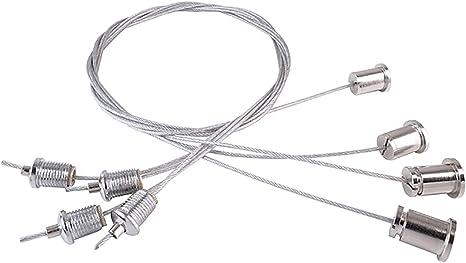 4 cavi acciaio 80 CM regolabili ed altro Kit Montaggio Sospensione Panello LED
