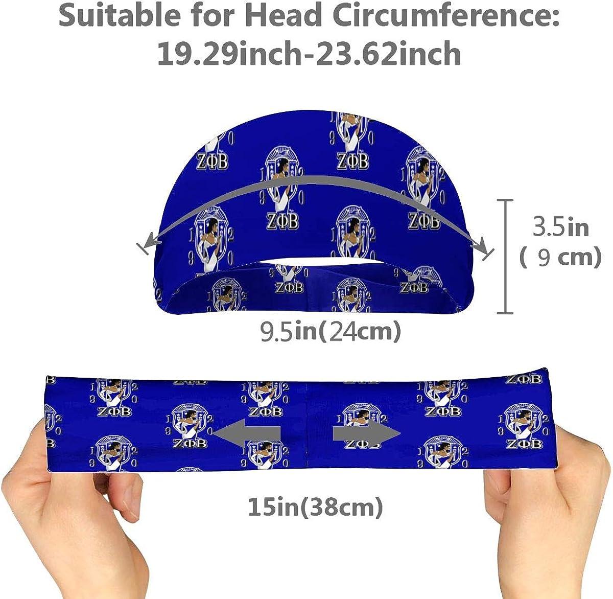 Zeta Phi Beta Sports Wristband Sweat Headband and Sports Sweatbands Moisture Wicking Workout Sweatbands for Men Women