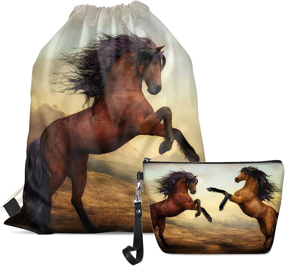 Tupalatus Make up Bags Backpack Set of 2 Pcs Gym Dancing Yoga PE Storage Bags