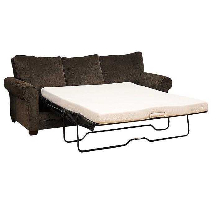 Amazon.com: Classic Brands 4.5 Inch Memory Foam Replacement Mattress For Sleeper  Sofa Bed, Queen: Kitchen U0026 Dining