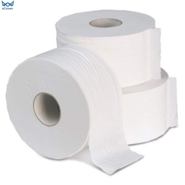 Enov Mini Jumbo 60mm Core 2 Ply Toilet Tissue White ~ 12 Rolls eCrown