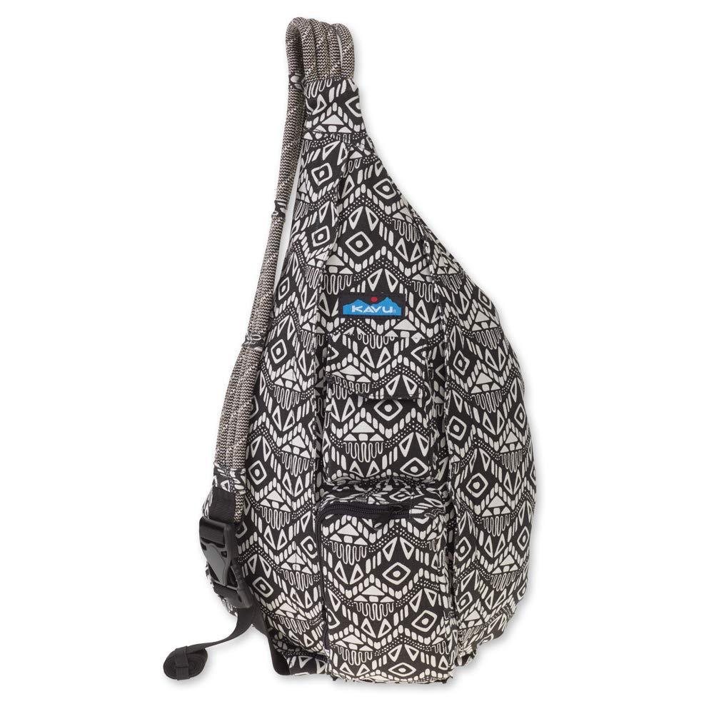 KAVU Rope Bag - Compact Lightweight Crossbody Sling - Black Batik