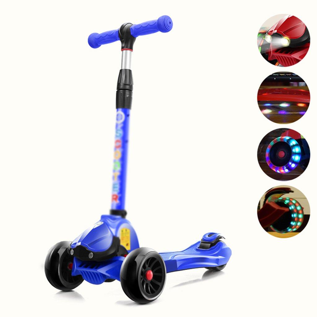 子供のスクーター4ラウンドフラッシュカー反回転広げフラッシュボタン折りたたみ (色 : 2#) 2#