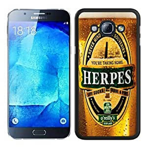 Personalized Custom Samsung Galaxy A8 Case,HERPES Black Samsung Galaxy A8 Phone Case